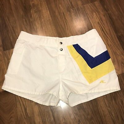 Rare Vtg 70s 80s Striped HOBIE Hawaii Surf Swim suit trunks shorts Mens 36 38