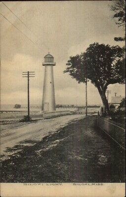 Biloxi MS Lighthouse 1908 Used Postcard