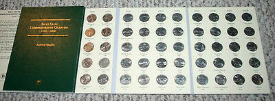 Fifty State (50)  Quarters 1999-2008 In Folder ***free Shipping***