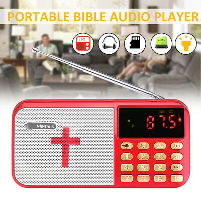 Rechargeable Electronic Bible Audio Player Built-in Loud Speaker English Version