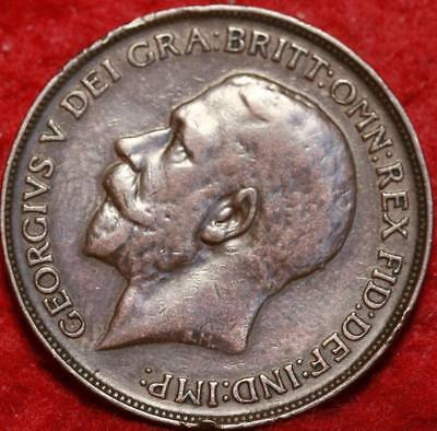 1912 Great Britain 1 Penny Foreign Coin