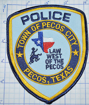 Texas, Town Of Pecos City Police Dept Patch