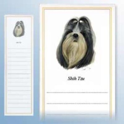 Magnetic Notepad SHIH TZU Dog Paper set of 2 pads CLEARANCE SALE