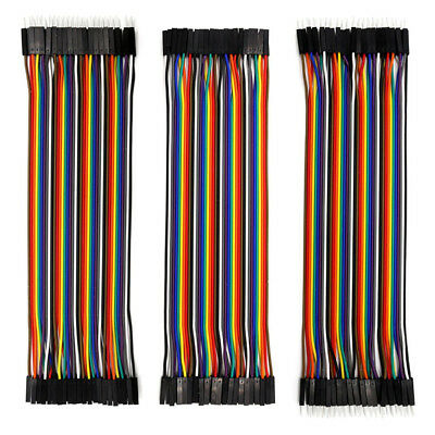 40pcs Dupont Ribbon Wire M-M/F-F/M-F Jumper Cable For Arduino Breadboard