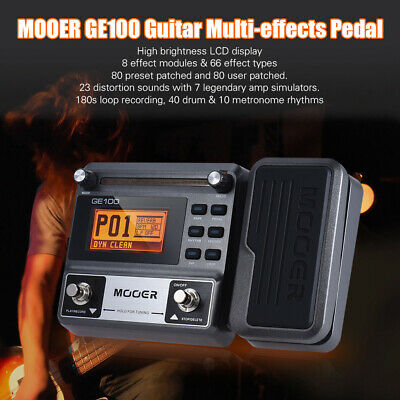 MOOER GE100 Guitar Multi-effects Processor Effect Pedal with Loop Recording D3P5