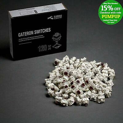 Glorious Gateron Clear Mechanical Keyboard Switches (120 pack) GAT-BROWN