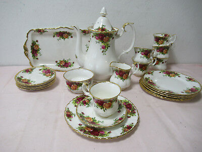 Old Country Roses Royal Albert Bon China Kaffeeservice 6.Pers. gebraucht /S11.2