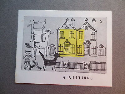 Set of 2 vintage christmas cards gordon fraser gallery bedford vintage christmas card nancy stubbs gordon fraser cats outside house 1950s m4hsunfo