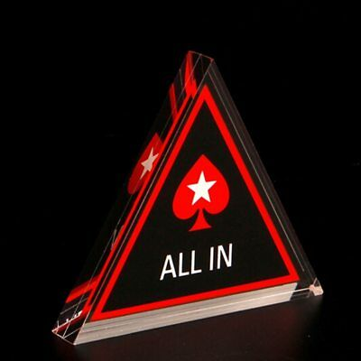 Poker All In Button Triangle Acrylic All In Button Texas Hold'em PokerStars