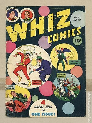 Whiz Comics (1940) 77 Front and Back Cover Only