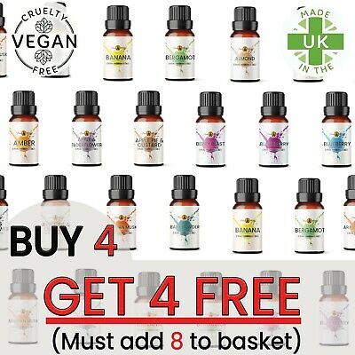 10ml FRAGRANCE Oils - Fragrance Oil Scents For Oil Burner, Diffuser, Soaps Wax