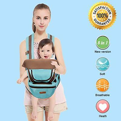 BABY CARRIER with HIP SEAT for 0-36 Months Ergonomic Baby Carrier Hiking