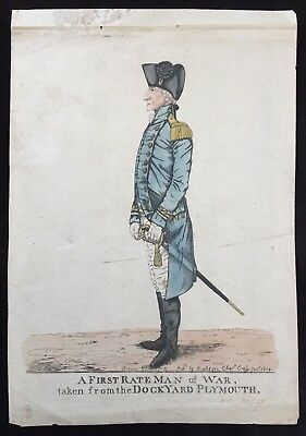 c.1817 Royal Navy Caricature of Admiral Sir William Young by Robert Dighton