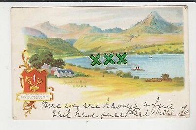 U/b  Glasgow And South Western Railway Postcard - Brodick Bay, Arran - 1903