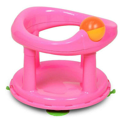 Safety 1st Swivel Baby Bath Seat 360 Swivel Degree Support Chair Pink