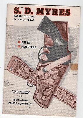 1961 S.D. Myres Belts and Holsters Catalog