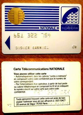 Carte France Telecom Ancienne - Nationale - Puce Ronde