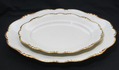 "Superb Rosenthal Pompadour Gilt Cream Graduated Serving Platter x 2 15"" 11"" Dia"