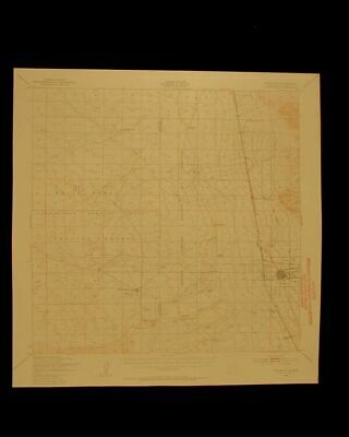 Tularosa New Mexico vintage 1956 original USGS Topographical chart