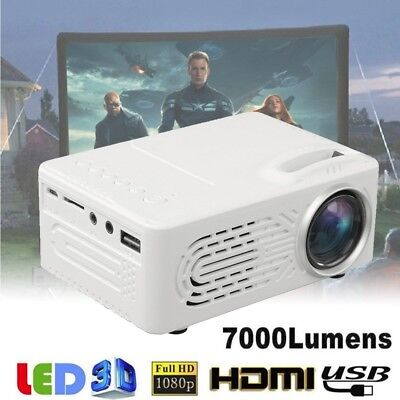 7000Lumens 3D 1080p completo HD Mini proyector LED Multimedia Home Theater 2018