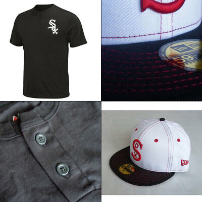 Officially Licenced Chicago White Sox 2 Button MLB T shirt + New Era 5950 Cap