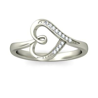 Heart Shaped 14K/ 18K White Gold Women 0.24 Tcw Natural G-H/ Si Diamond Ring