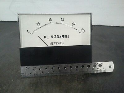 Panel Meter, 0 - 100 Ua DC Amp Meter. 130 x 100mm