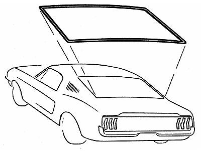 69-70 Mustang Coupe Rear Window Weatherstrip