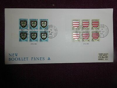 Guernsey 1st day cover 1983 booklet panes
