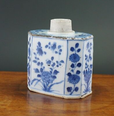 FINE! Antique Chinese Porcelain Blue and White Tea Caddy Vase KANGXI c1662-1722