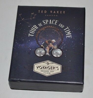 TED BAKER Voyager's Brogue HIP FLASK w/ Box (Tour de Space and Time)