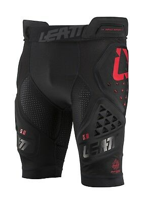 Leatt 5.0 Impact Shorts 3DF Protection Guard Black Cycle Off Road Riding MX ATV
