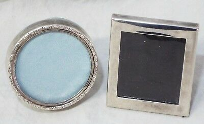 Pair of Old Antique STERLING SILVER Lunt Wallace MINIATURE PICTURE FRAMES