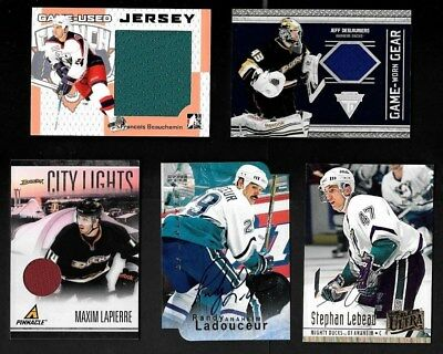 Anaheim Mighty Ducks Autograph Jersey Nhl Hockey Card See List