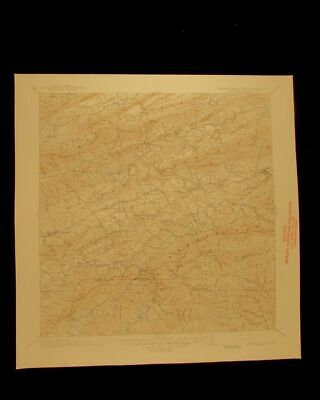 Abingdon Virginia Tennessee North Carolina 1945 USGS Topographical chart