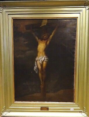Huge 17th Century Dutch Old Master The Crucifixion Of Christ Anthony Van Dyck