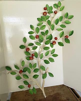 shabby BUT OH SO CHIC ITALIAN TOLE LARGE APPLE TREE BRANCH W/12 APPLES AWESOME