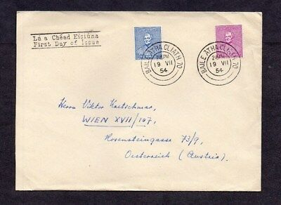 Ireland.1954.cardinal Newman Set On First Day Cover.'dublin' First Day Cancel.