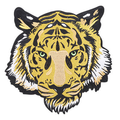 Large Tiger Embroidered Cloth Iron on Patch Applique Jacket Jeans DIY Crafts LD
