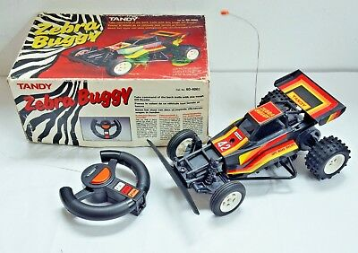 Vintage Boxed Tandy ZEBRA BUGGY Remote Control Car - Working. RC Collectable.
