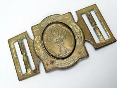 Vintage SCOUTING BELT BUCKLE ASSOCIAZIONE SCOUTS CATTOLICI ITALIANI BRASS CLASP