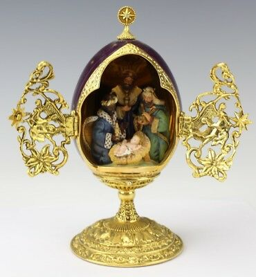 House of FABERGE Limited Edition WE THREE KINGS Collectors Egg Franklin Mint DML