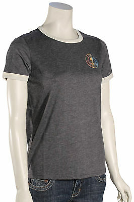 Rip Curl Heritage Ringer SS T-Shirt - Charcoal - New