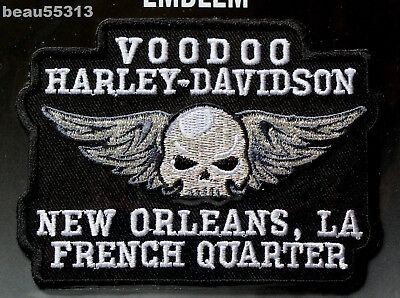 Voodoo New Orleans French Quarter Louisiana Harley Davidson Dealer Patch