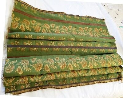 Antique Hand Woven French Silk Fabric, Beautiful Textile Yardage