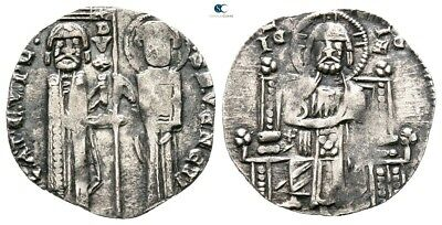 Savoca Coins Italy Venice Grosso Doge Christ St. Marco 1,14 g / 15 mm @TAD7396