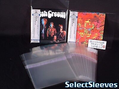 CD SLIMLINE RESEALABLE SelectSleeves Japan Made 100 pcs