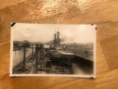 USS Arizona Photo in the Panama Canal 1921 , Remember Pearl Harbor