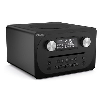 Pure EVOKE-CD4-BLACK All-In-One DAB+/FM Music System with CD and Bluetooth