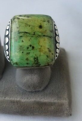 Huge Chinese Turquoise Sterling Silver Ring.size 8